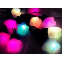 Csillagos LED Fényfüzér (SZÍNES)