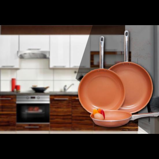 Erős és stabil serpenyők a konyhádban! 3 részes CopperLine serpenyőszett