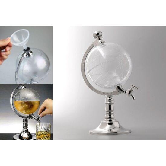 Földgömb alakú italadagoló