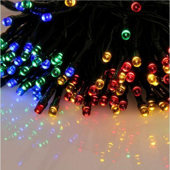 100 LED-es elemes karácsonyi égősor  ajándék elemekkel (Szines)
