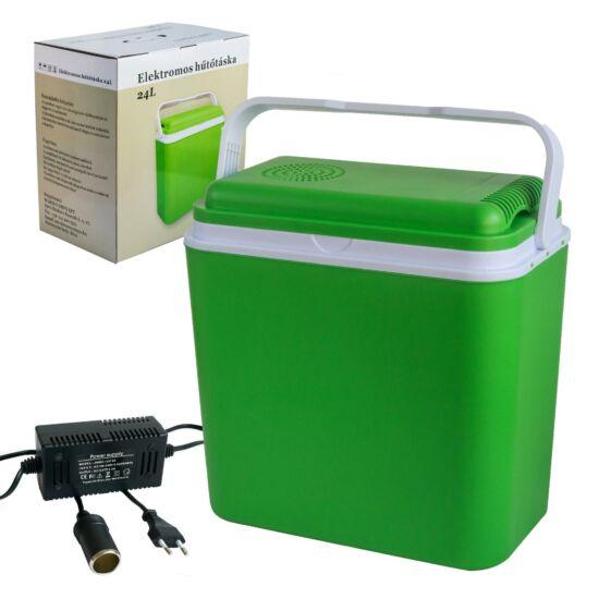 Szivargyújtóról működtethető 24 literes thermo elektromos hűtőláda kampány