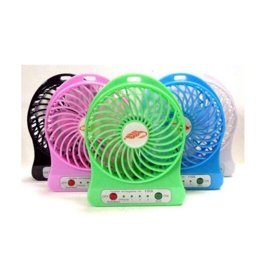Hordozható akkumulátoros ventilátor (Fekete színben)