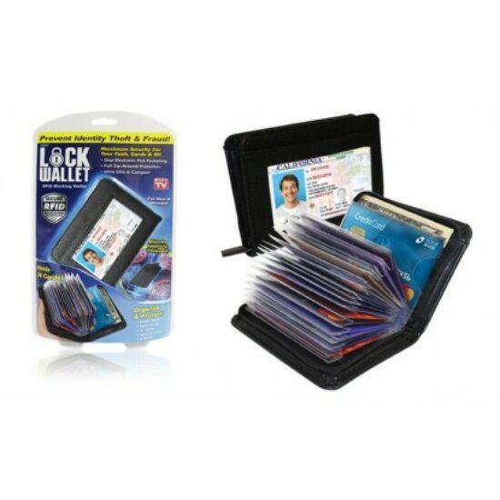 Biztonsági pénztárca és kártyatartó RFID blokkolóval