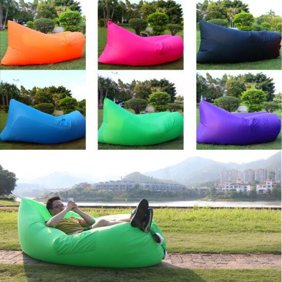 Lamzac bag felfújható ágy zöld színben