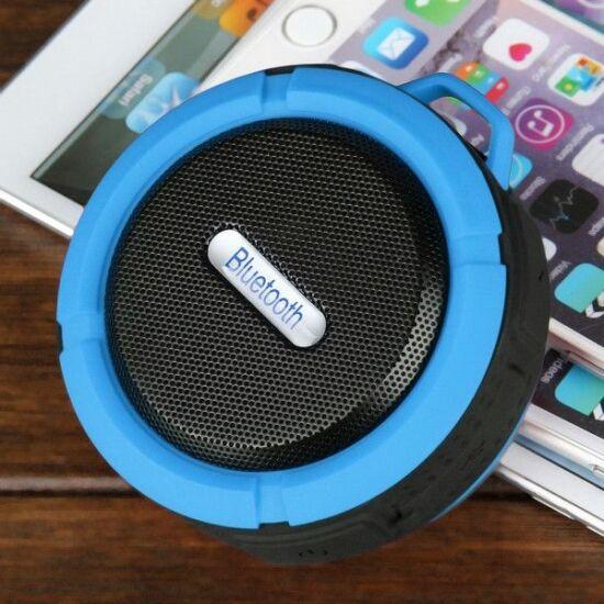 Csepp és ütésálló bluetooth hangszóró (Kék)