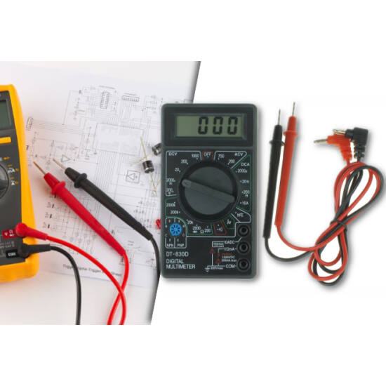 Digitális feszültségmérő (Fekete)