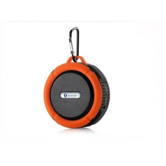 Csepp és ütésálló bluetooth hangszóró (Narancs)