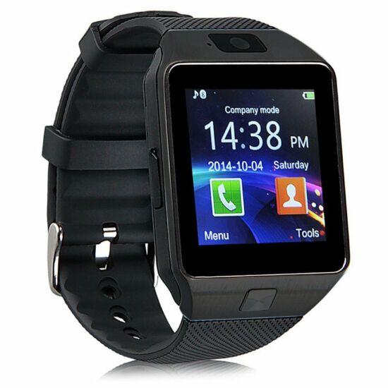 DZ09 Smart Android okosóra beépített kamerával és SIM kártya foglalattal (Fekete)