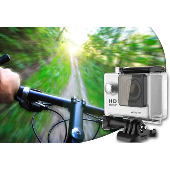 WIFI Action kamera vízálló tokban állvánnyal