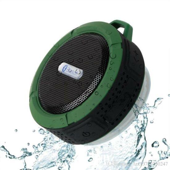 Csepp és ütésálló bluetooth hangszóró (Zöld)