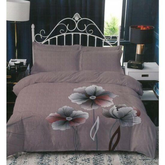 Sendia 3 részes ágynemű virág mintával (Barna)