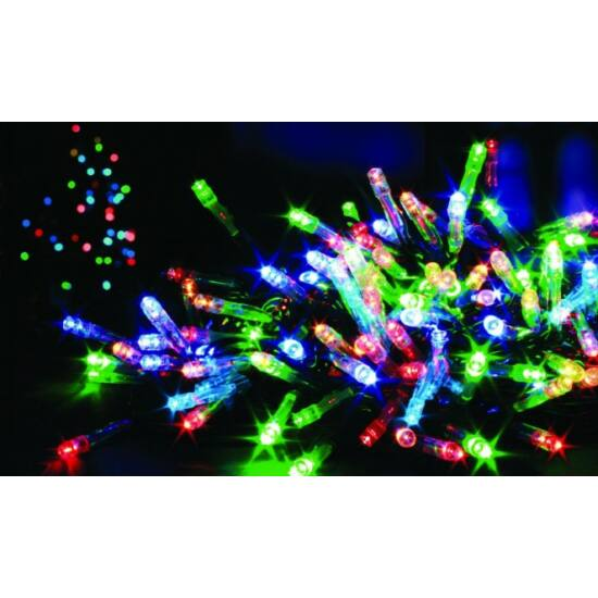 140 LED-es dekorációs fényfüzér (Színes)