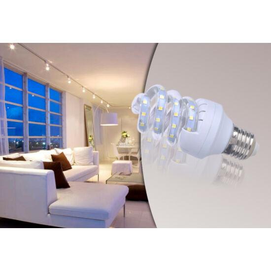 7W-os prémium LED fényforrás (10 darabos csomag, Spirál-alakú, E27, Meleg fehér)
