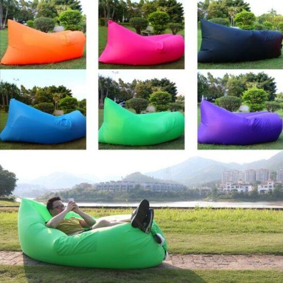 Lazy bag felfújható ágy pink színben