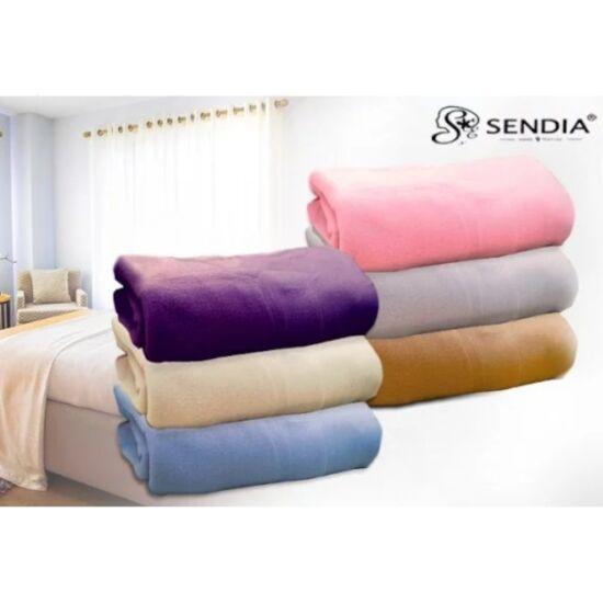 SENDIA ágytakaró polár pléd (200x230) Barna