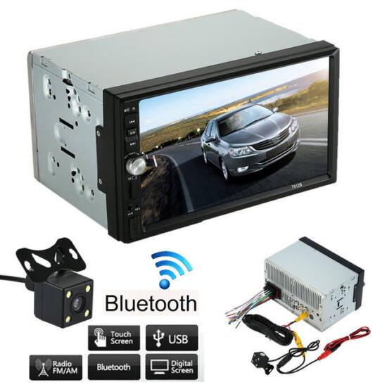GPS Mp5 autórádió 7col 2din Bluetooth