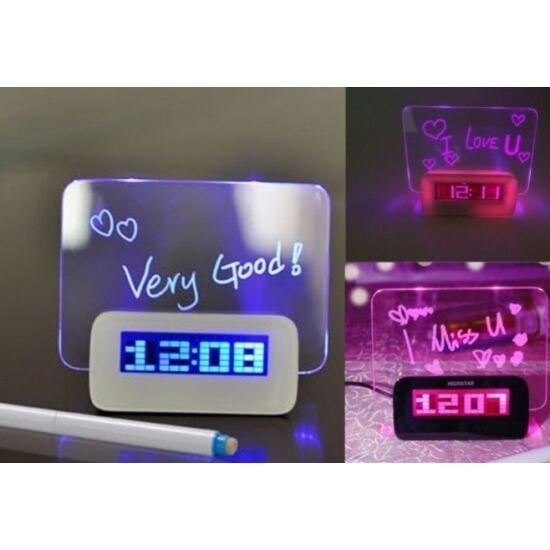 LED üzenőfalas óra, dátum, naptár és ébresztő funkcióval