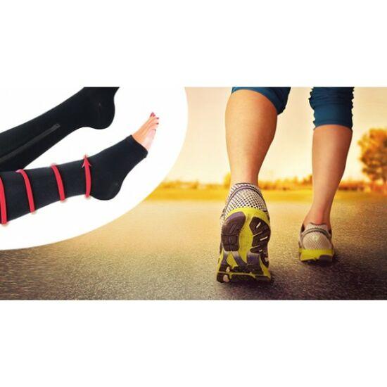 Zipzáras kompressziós zokni