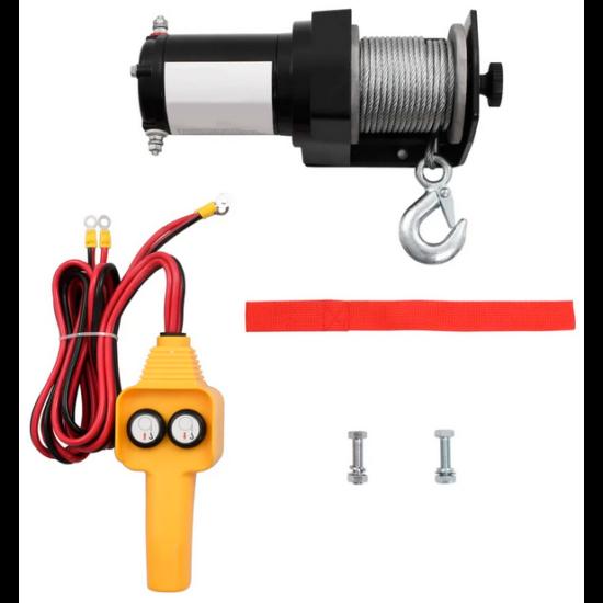Haina 12 V Elektromos Csörlő 907 KG vezetékes távirányítóval