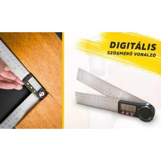 Digitális szögmérő vonalzó