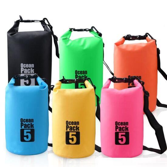 Dry Bag felakasztható vízálló táska (5 literes) (kék)
