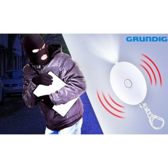 GRUNDIG személyi riasztó kulcstartós LED elemlámpával