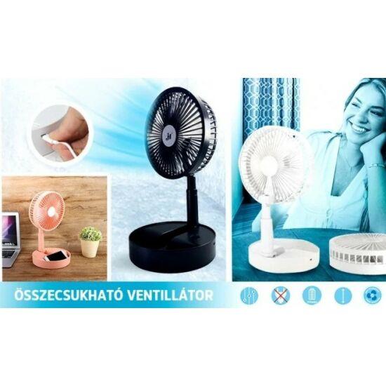 Akkumulátoros Asztali Ventilátor (Fehér)