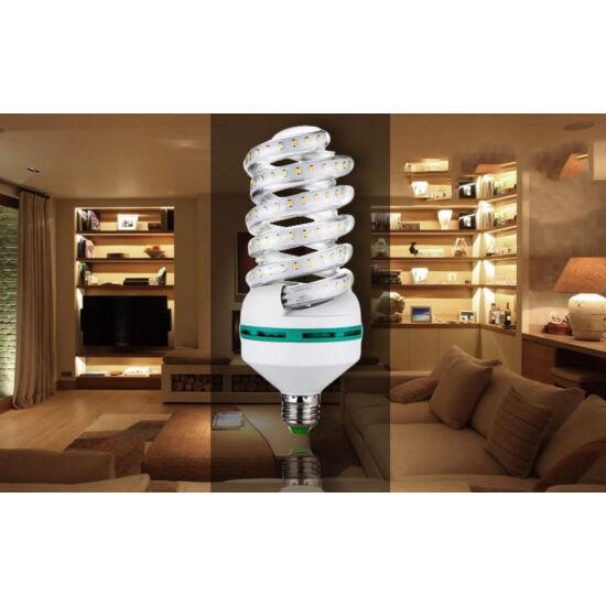 16W-os prémium LED fényforrás (10 darabos csomag, Spirál-alakú, E27, Meleg fehér)