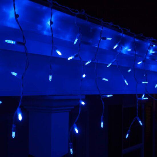 100 LED-es karácsonyi jégcsap fényfüzér (kék)