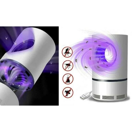Nagyméretű elektromos rovarcsapda LED UV fénnyel (Fekete)
