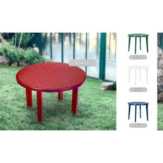 Kerti kerek asztal (90 cm, zöld)