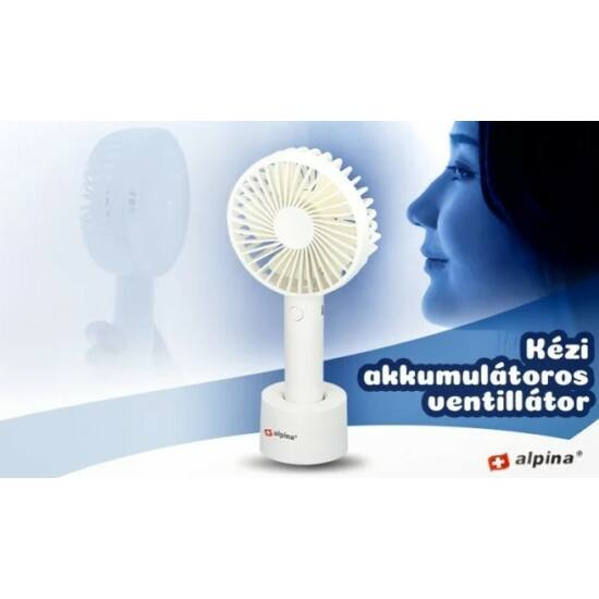 Alpina akkumulátoros kézi ventilátor