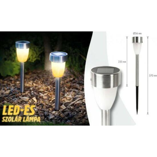 LED-es szolár lámpa lángeffekttel