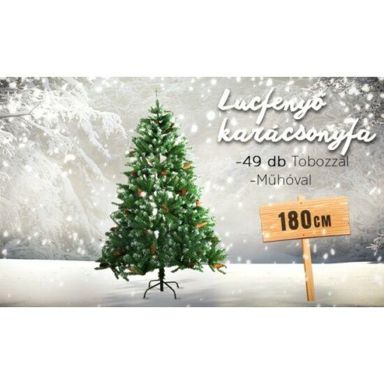 Havas lucfenyő karácsonyfa (708 ágú, 180 cm)