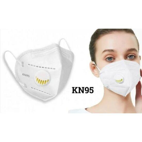 KN95 szelepes maszk (Fehér)