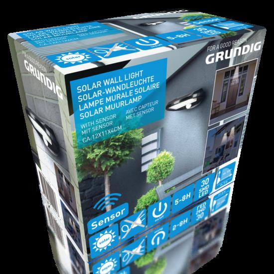 Grundig napelemes szenzoros fali lámpa (2 darabos szett)