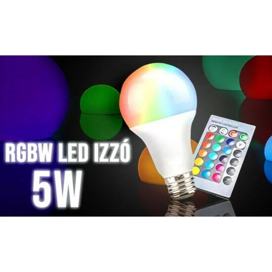 RGBW Izzó 5w (E27)
